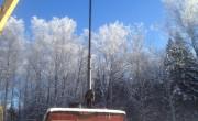 Монтаж насоса ЭЦВ10-65-150 в ОАО АПК «Дубинино»