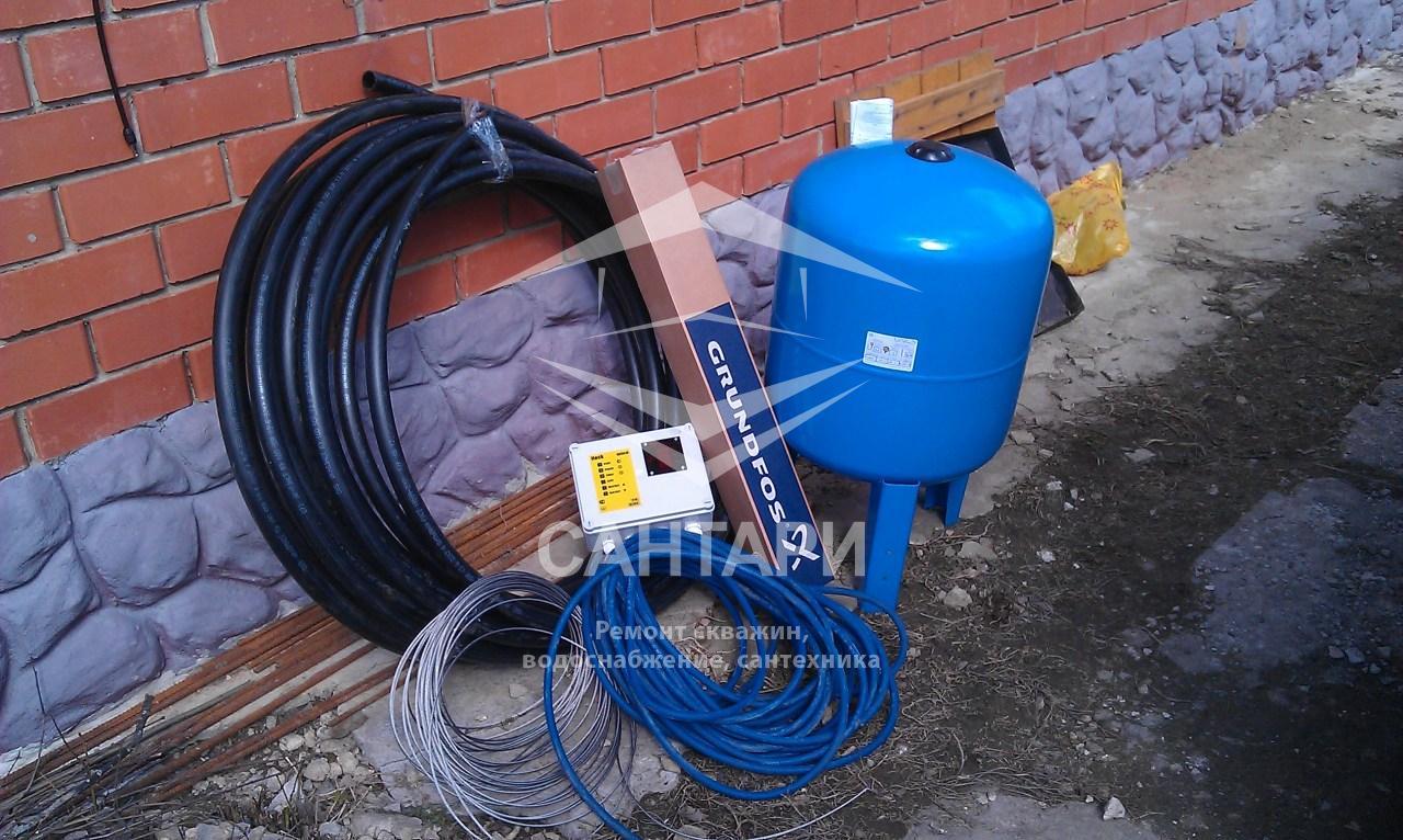Оборудование для монтажа системы водоснабжения из скважины